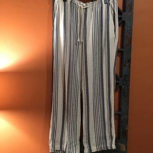 Navy/white striped pants